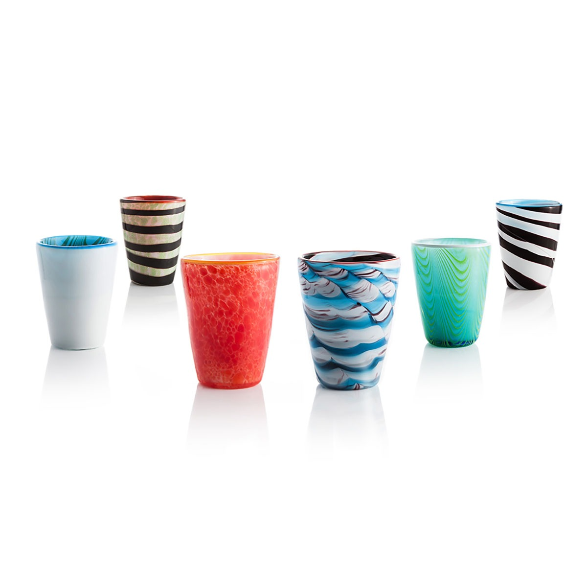 Bicchieri vetro soffiato mares italesse no noart for Bicchieri colorati vetro