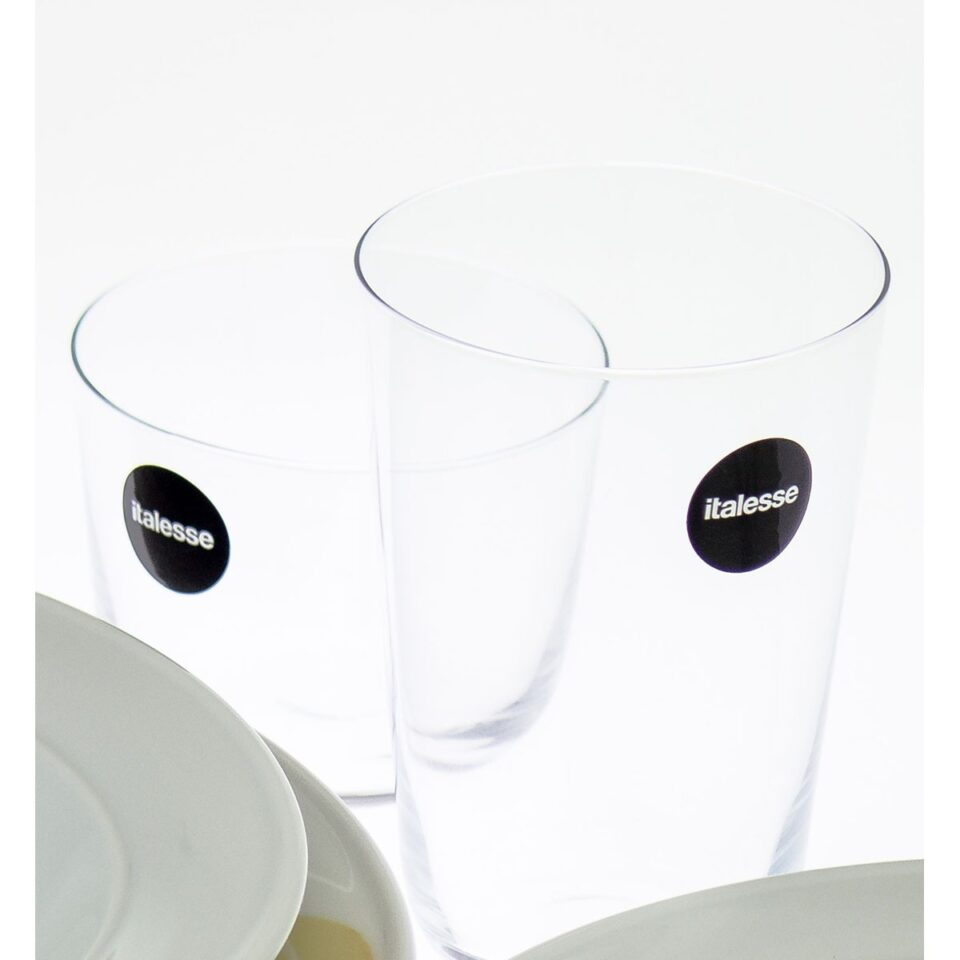 bicchieri tonic glass italesse pranzo dettaglio