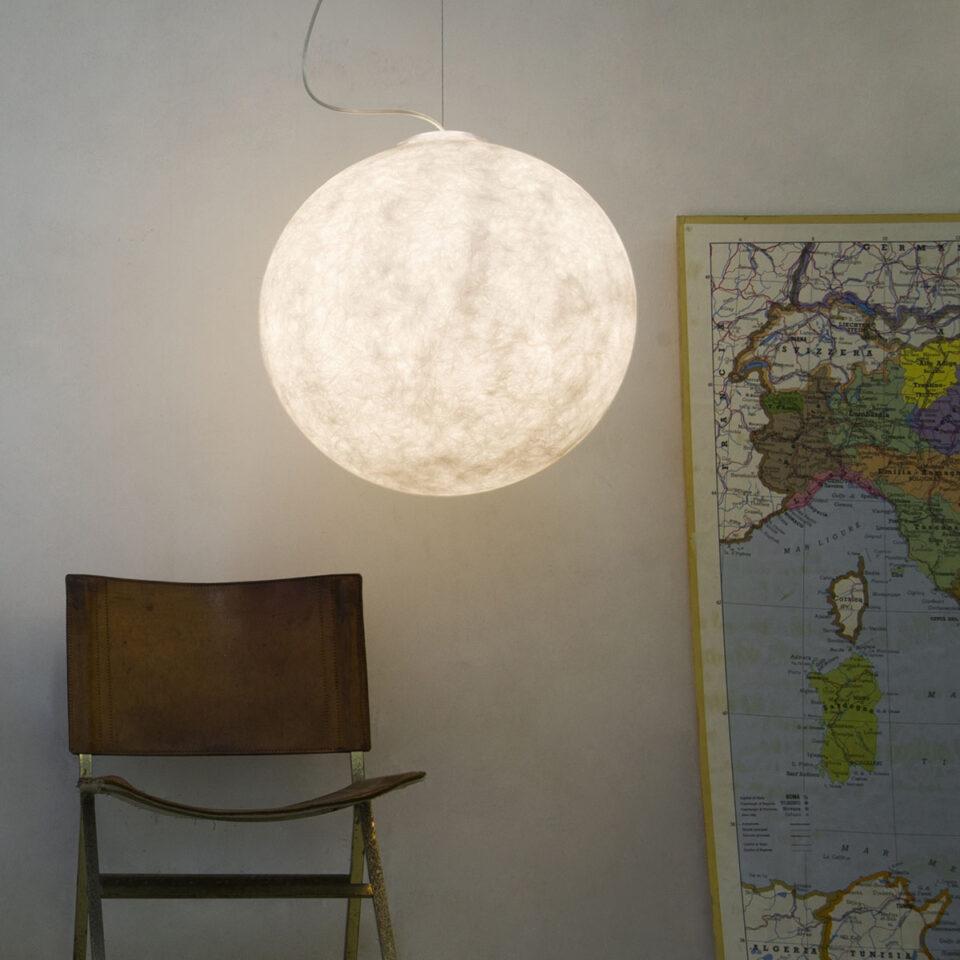 lampada sospensione luna