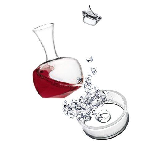 Decanter Vino Alavin ITALESSE Set Completo 3 pezzi