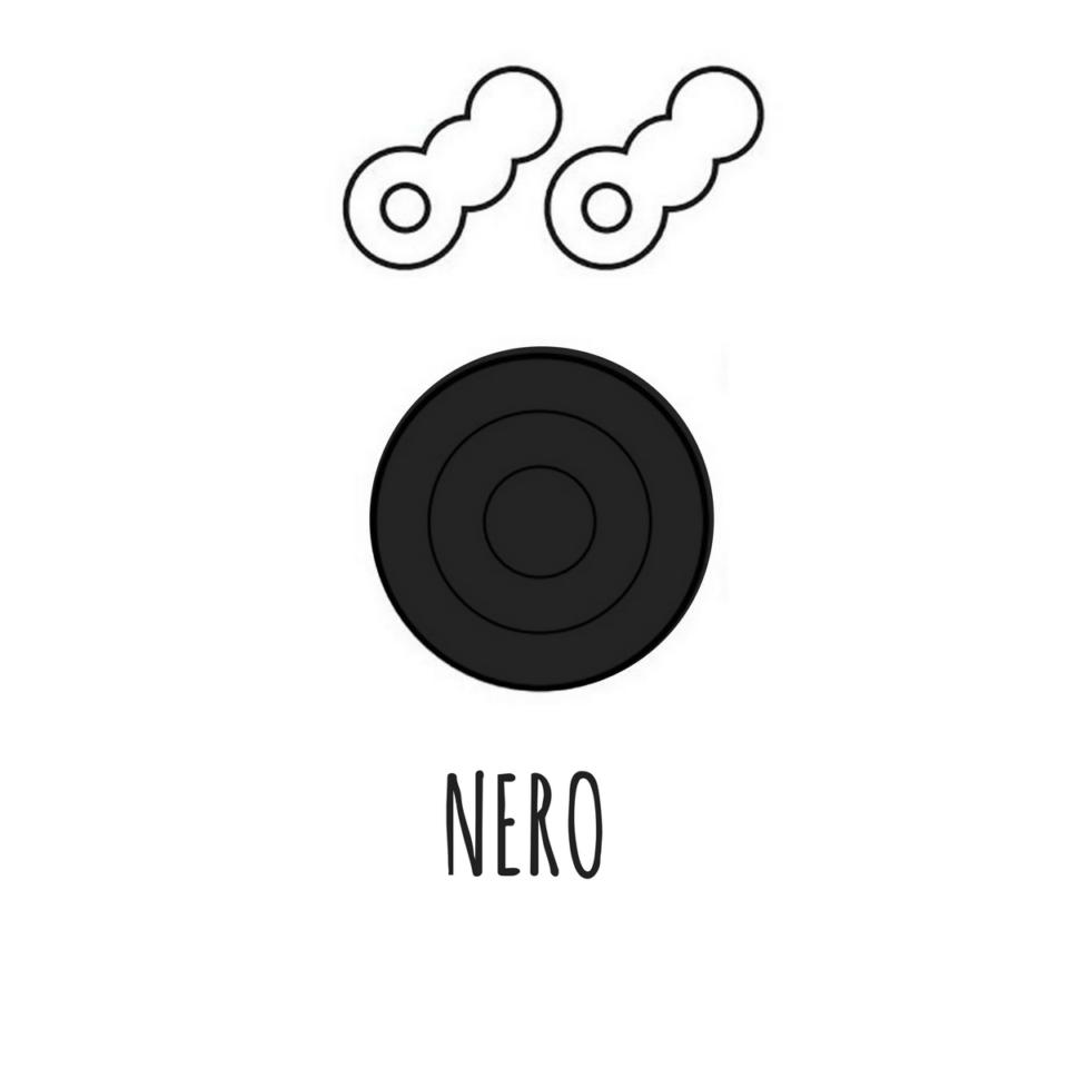 Portachiavi magnetico Tiro a segno NERO