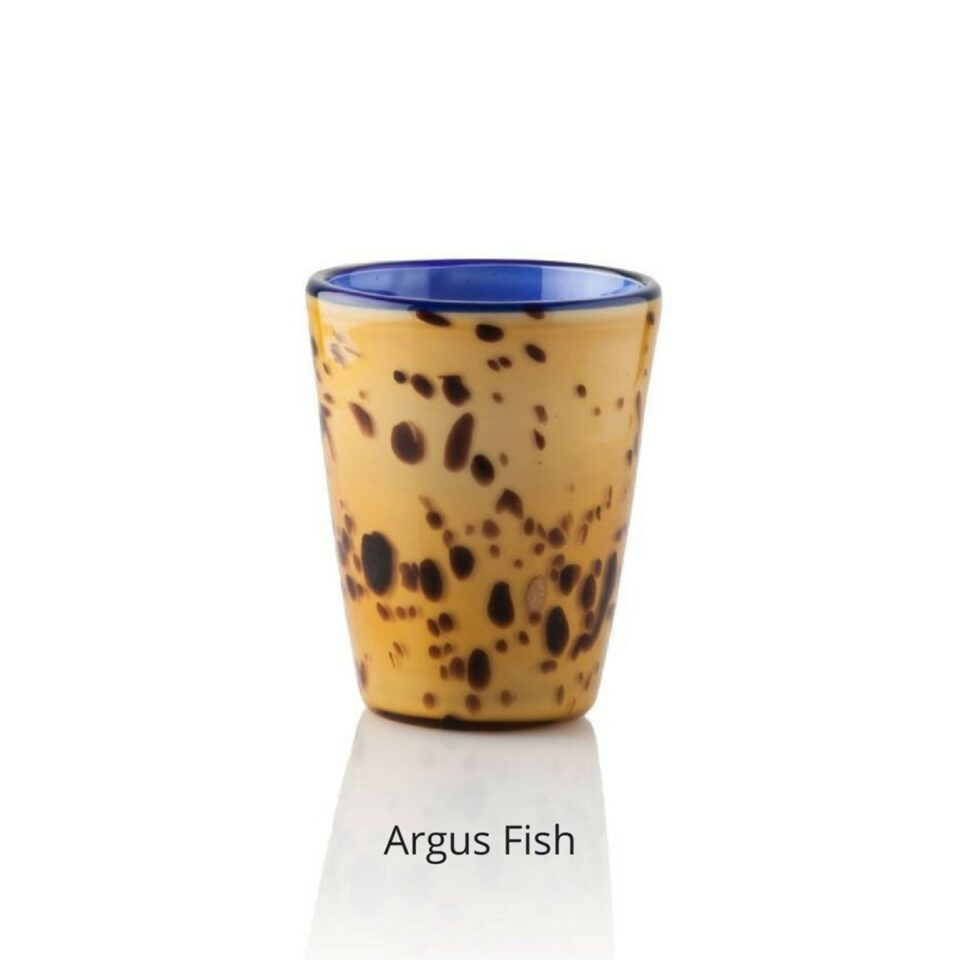 bicchiere colorato argus fish mares