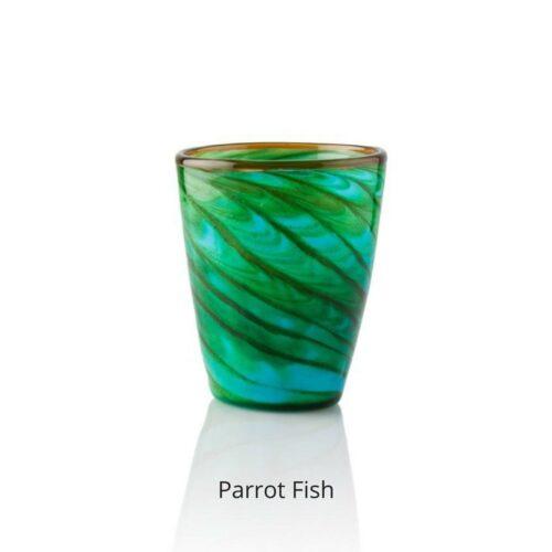 Bicchiere colorato Parrot fish Mares Italesse (in vetro soffiato)