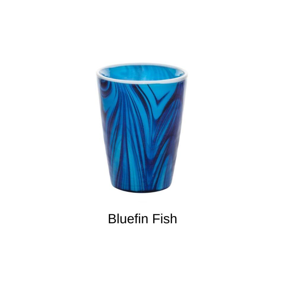 Bicchieri in Vetro Soffiato Mares ITALESSE Nuove Livree_Blue