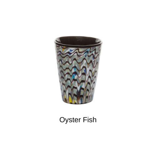 Bicchiere colorato Oyster fish Mares Italesse (in vetro soffiato)