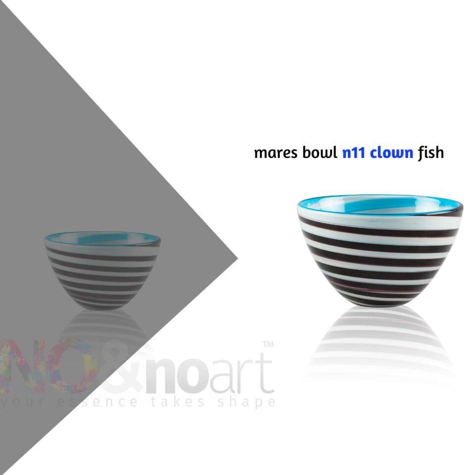 Mares Bowl n.11 ITALESSE ciotola in vetro clown fish