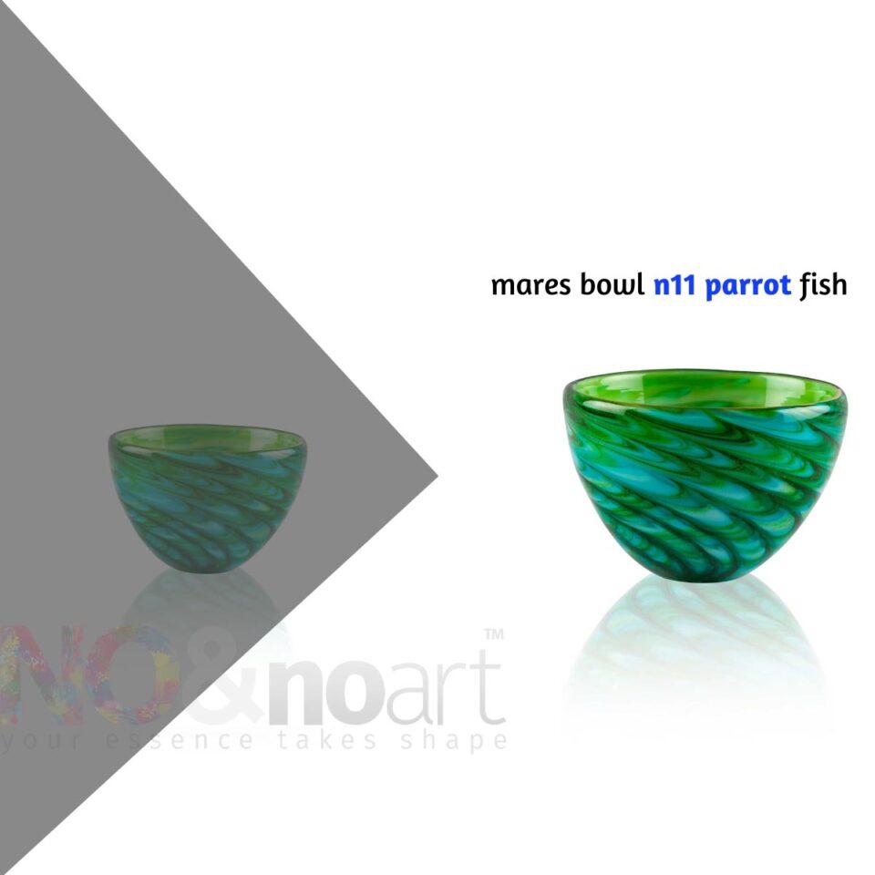 Mares Bowl n.11 ITALESSE ciotola in vetro parrot fish