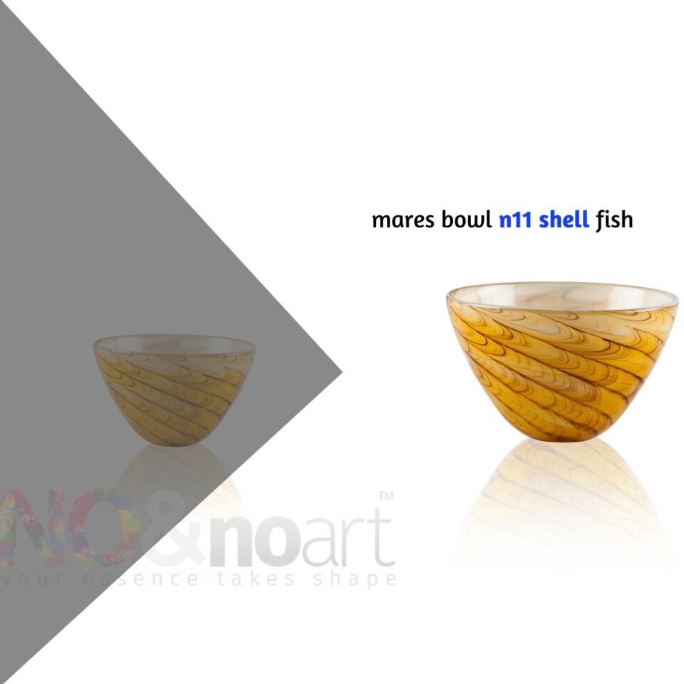 Mares Bowl n.11 ITALESSE ciotola in vetro shell fish