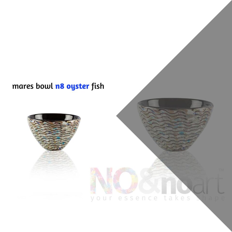 Mares Bowl n.8 ITALESSE ciotola in vetro oyster fish