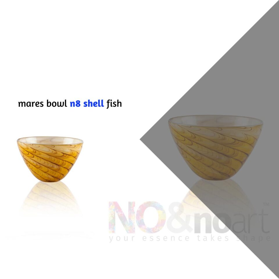 Mares Bowl n.8 ITALESSE ciotola in vetro shell fish