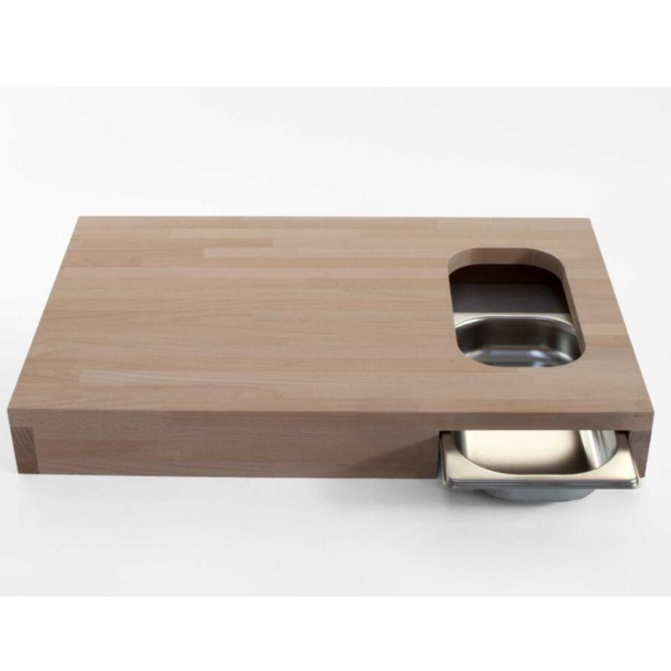 Tagliere legno Progetti con vaschetta Chop3