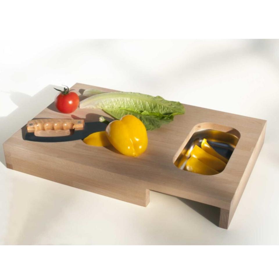 Tagliere legno Progetti con vaschetta Chop5