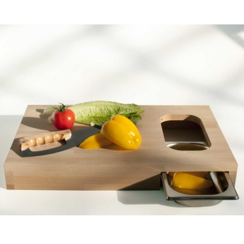 Tagliere legno Progetti con vaschetta Chop6