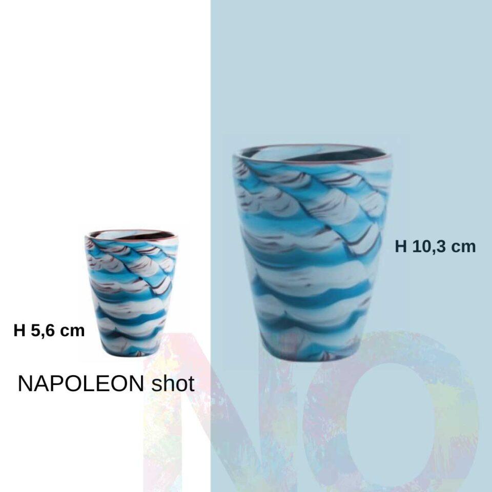 Shot Mares Italesse vetro soffiato napoleon