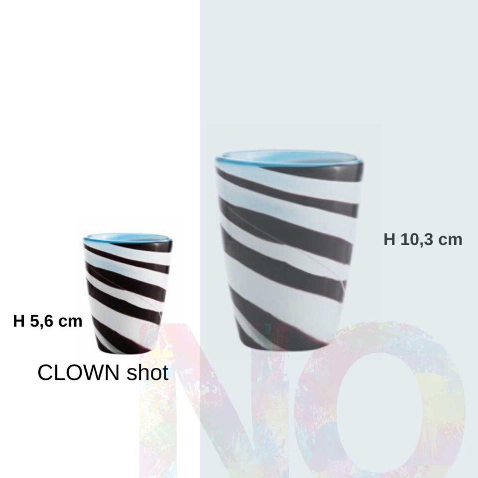 Shot Mares Italesse vetro soffiato clown