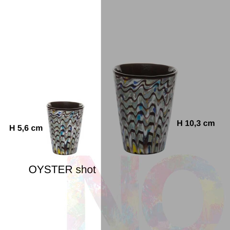 Shot Mares Italesse vetro soffiato Oyster
