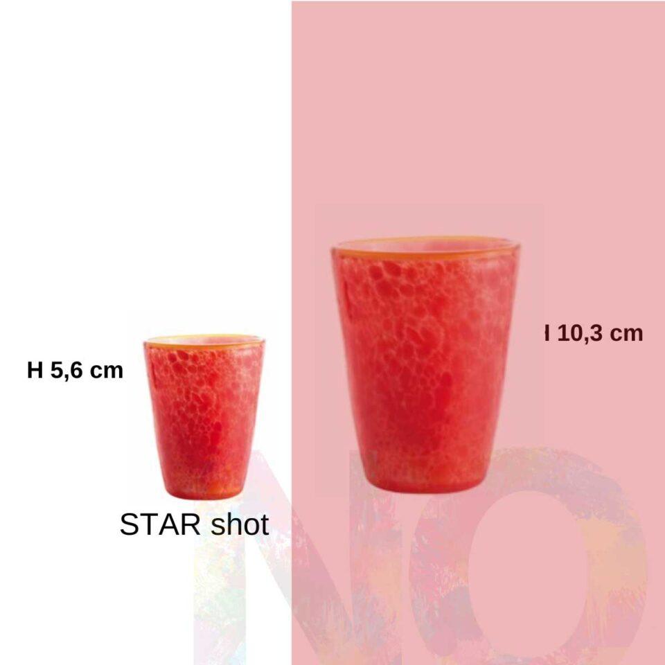 Shot Mares Italesse vetro soffiato Star