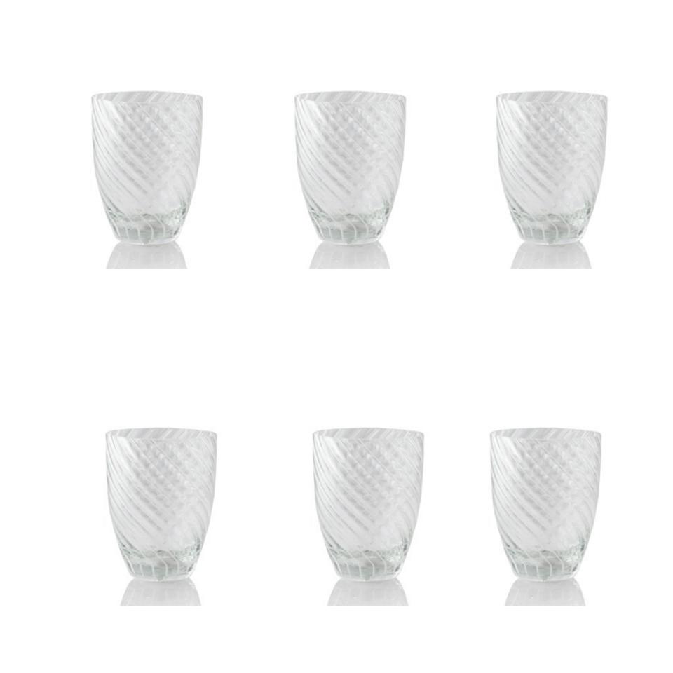 Vertigo Tumbler Glass Italesse 6 bianco