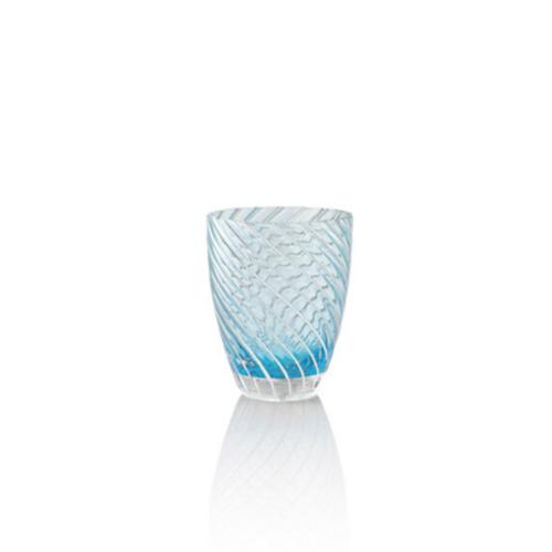 6 bicchieri Vertigo Blu e bianco Italesse