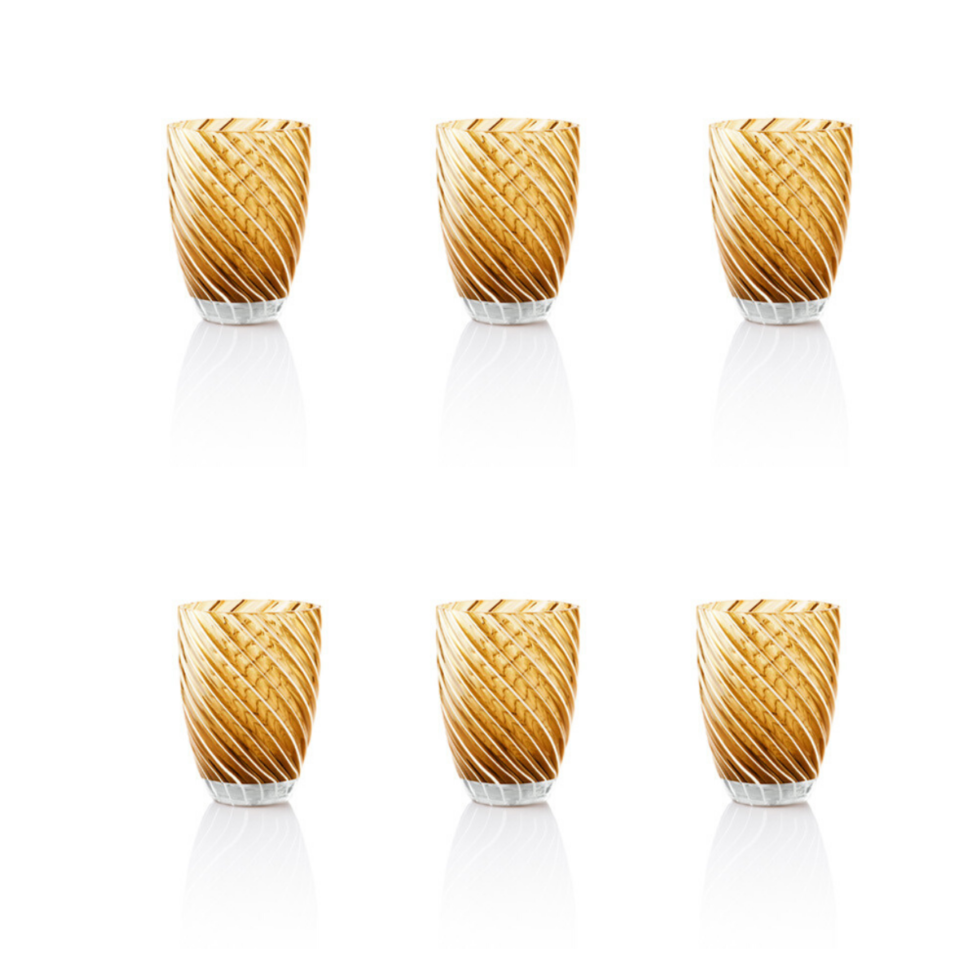 Vertigo Tumbler Glass Italesse – 6 giallo