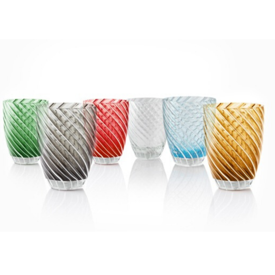 Vertigo Tumbler Glass Italesse-color mix