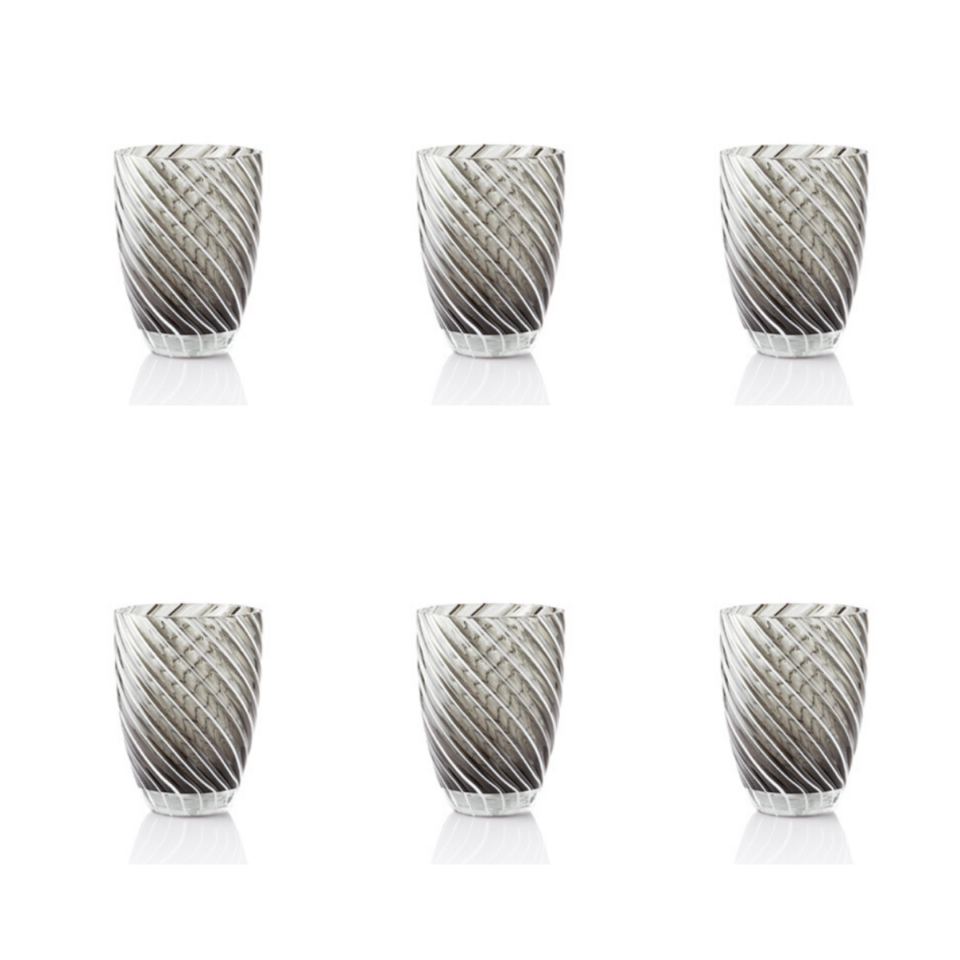 Vertigo Tumbler Glass Italesse-6 nero