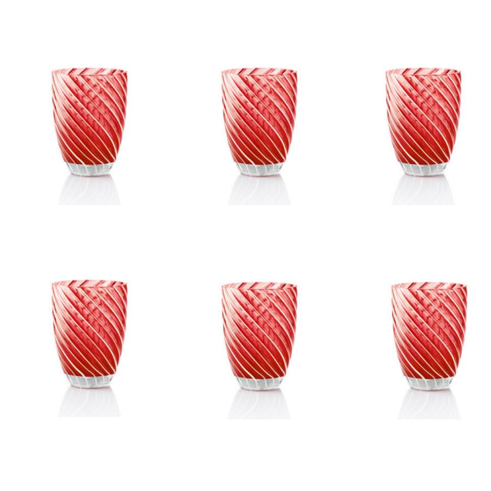 Vertigo Tumbler Glass Italesse-6 rosso