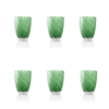 Vertigo Tumbler Glass Italesse-6 verde