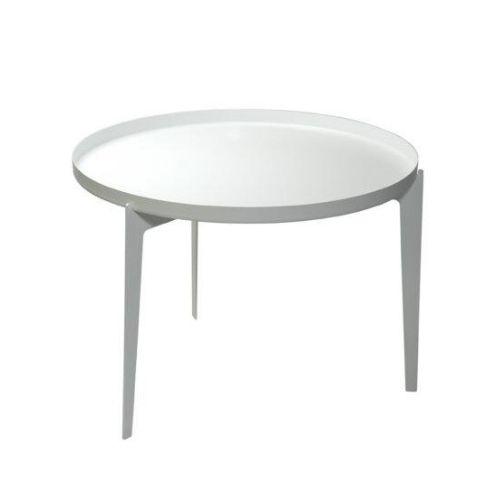 Tavolino large con Vassoio bianco
