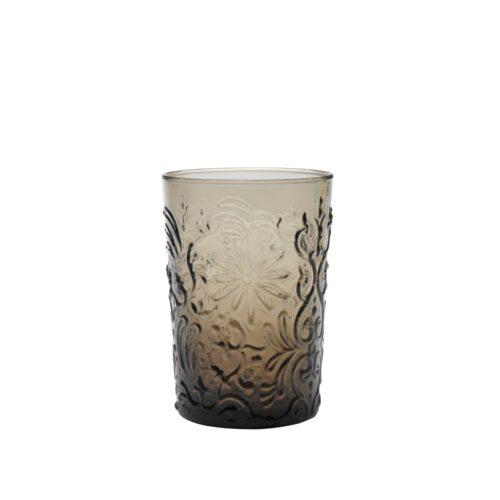 6 Bicchieri Grigio in vetro fatti a mano Zafferano