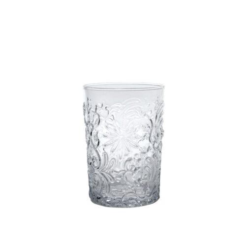 6 Bicchieri Trasparente in vetro fatti a mano Zafferano