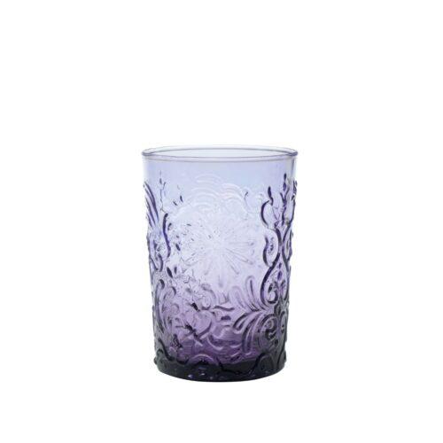 6 Bicchieri Ametista in vetro fatti a mano Zafferano