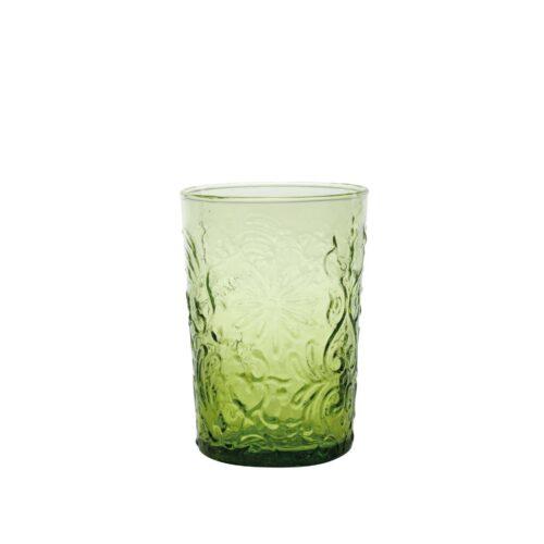 6 Bicchieri Verde mela in vetro fatti a mano Zafferano