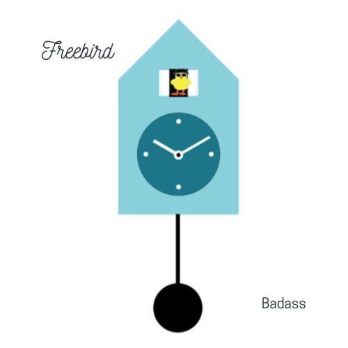 Orologio azzurro a parete Freebird Badass Progetti