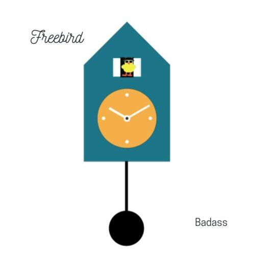 Orologio blu a parete Freebird Badass Progetti