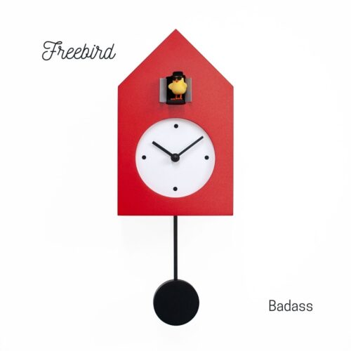 Orologio rosso a parete Freebird Badass Progetti