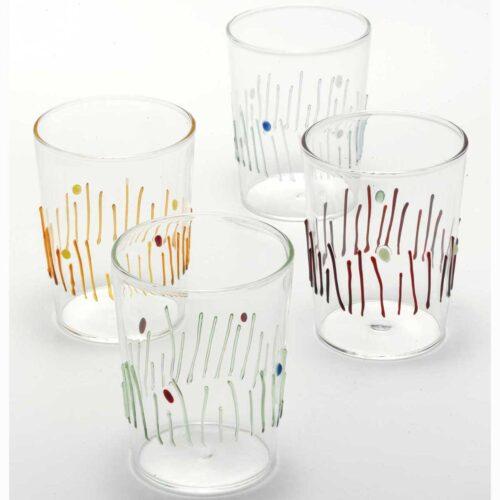 4 stagioni Zafferano set 4 bicchieri (vetro borosilicato)