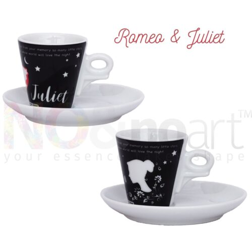 Set 2 tazzine caffè Romeo and Juliet by Ancap