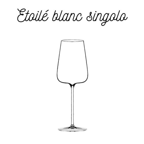 Calice singolo Etoilé Blanc Italesse