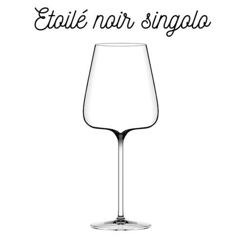 Calice singolo Noir Italesse per vini corposi