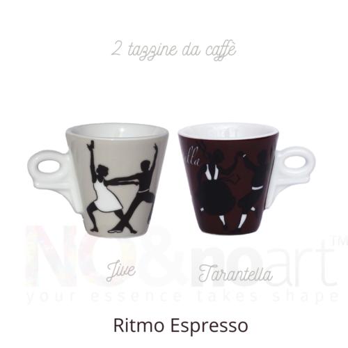 set 2 tazzine ritmo espresso