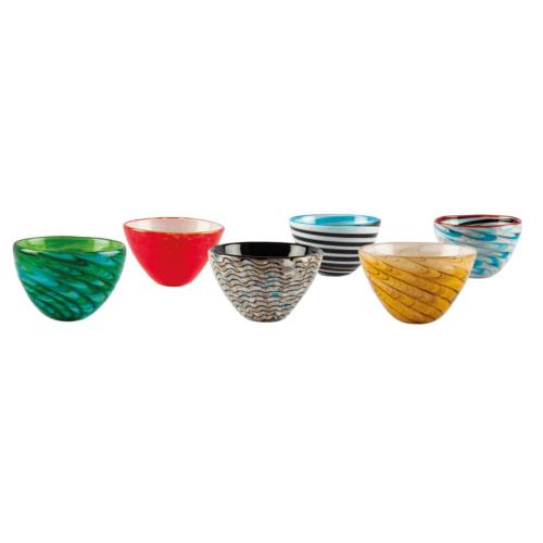 Mares Bowl n.8 ciotoline in pasta di vetro
