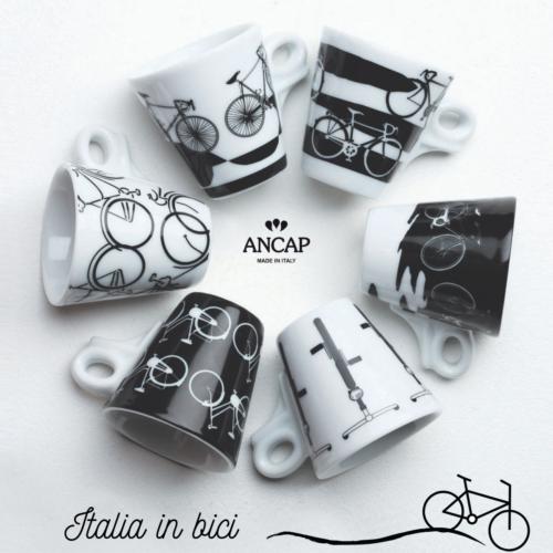 Tazzine Caffè in porcellana ANCAP iItalia in Bici