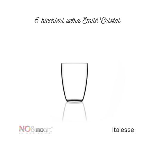 6 bicchieri vetro Etoilé Cristal Italesse